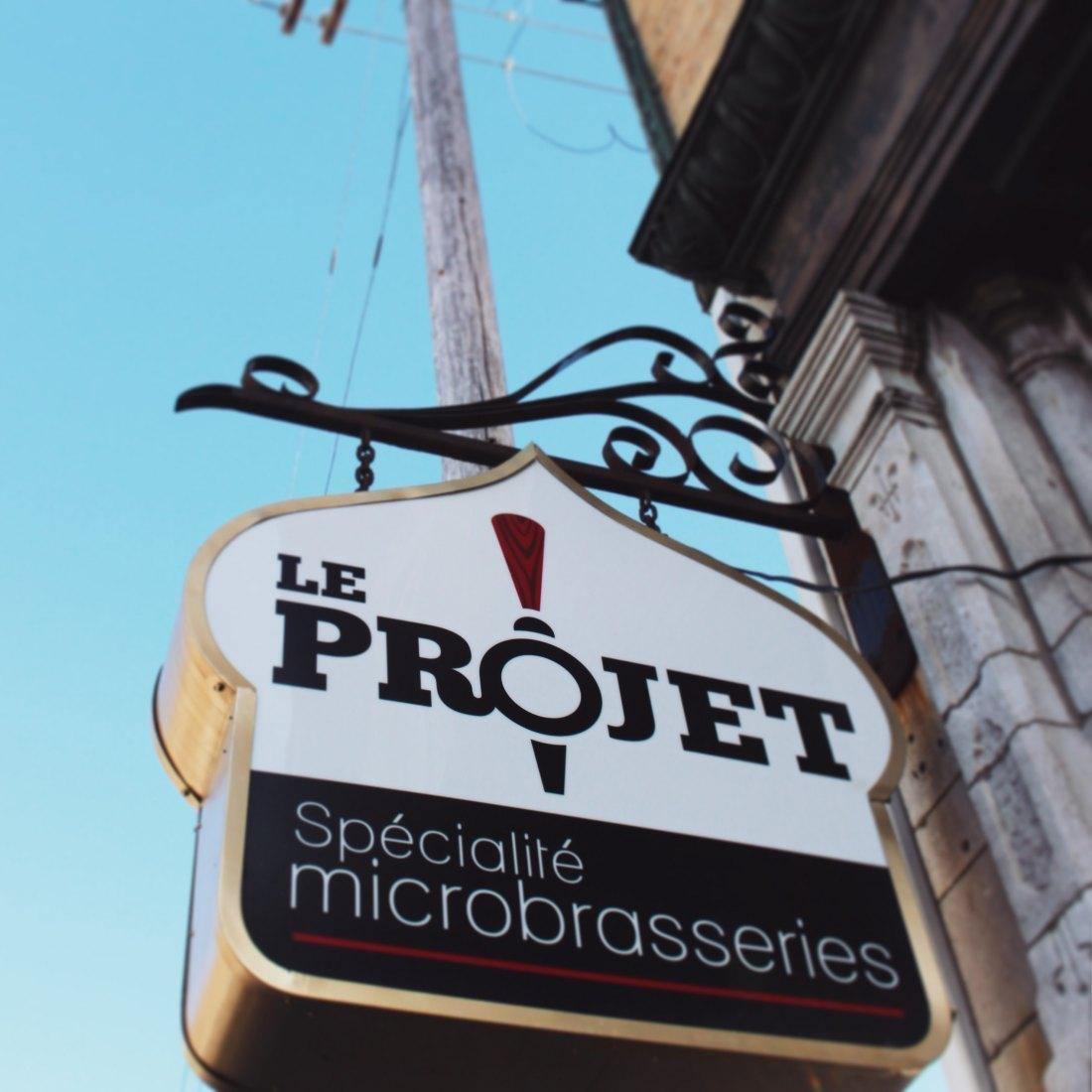 Le Projet, spécialité microbrasseries - Restaurant Cuisine Du Terroir Haute-Ville (St-Jean-Baptiste), Québec